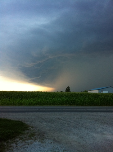 Scary cloud! Chatham, Ontario Canada
