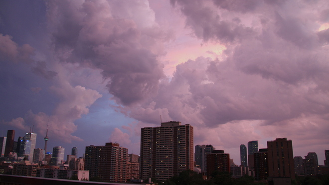 Storm over the downtown Toronto, Ontario Canada
