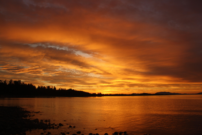 sunset beauty Campbell River, British Columbia Canada