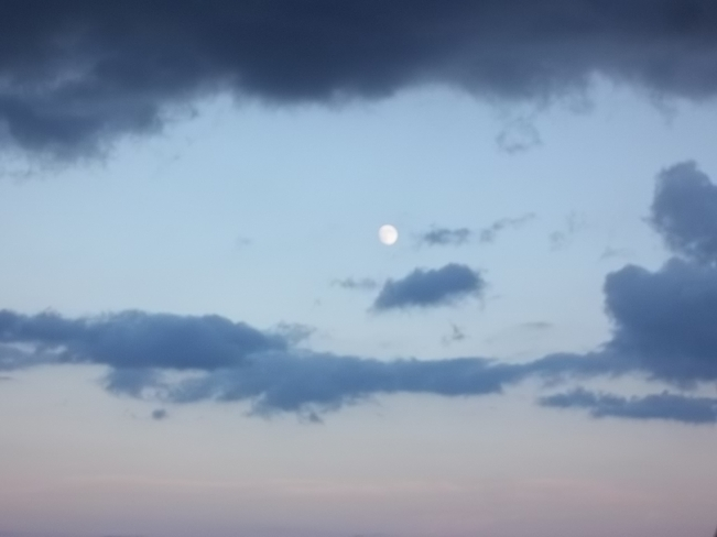Evening Moon Birchy Bay, Newfoundland and Labrador Canada