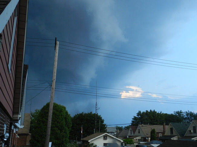 Storm moving in Hamilton, Ontario Canada