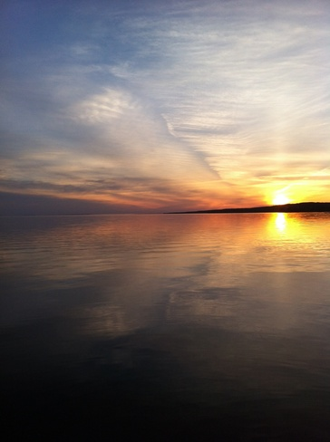 Beautiful sunset North Bay, Ontario Canada
