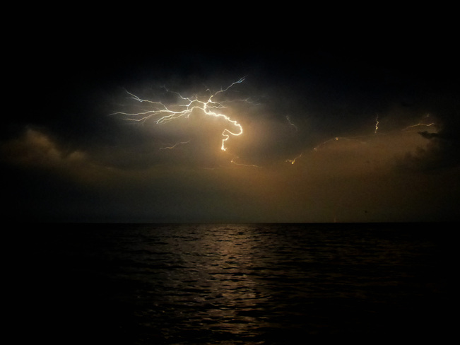 Alien Lightening Over Lake Ontario Etobicoke, Ontario Canada