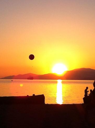 Soccer on Third Beach Vancouver, British Columbia Canada