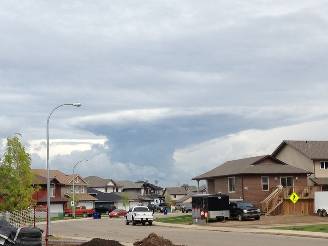 storm clouds Fort McMurray, Alberta Canada