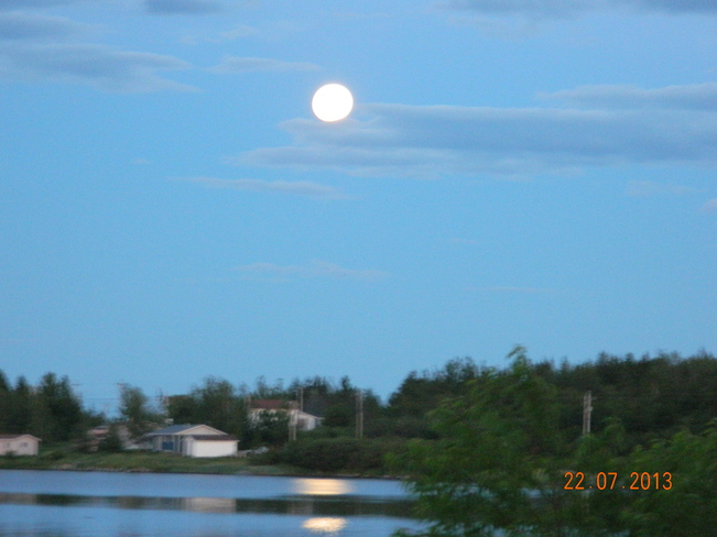 full moon Boyd's Cove, Newfoundland and Labrador Canada
