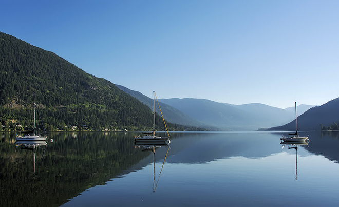 Blue morning Nelson, British Columbia Canada