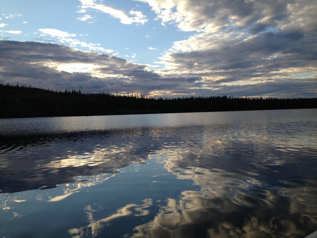 clouds in the lake - walsh lake Yellowknife, Northwest Territories Canada