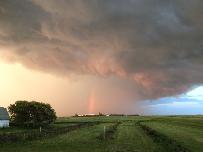 Rainbow within the storm Regina, Saskatchewan Canada