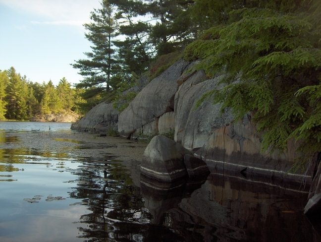 Water Lines On The Rocks Massey, Ontario Canada