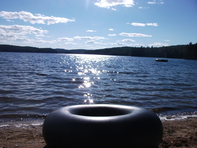Relaxing at Fish Tail Lake, ON Wilberforce, Ontario Canada