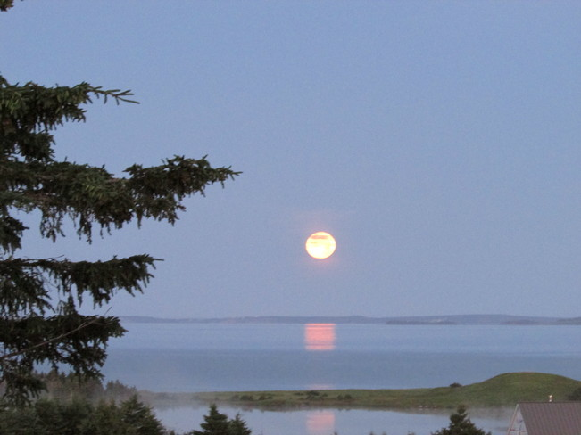 July full moon L'Ardoise, Nova Scotia Canada