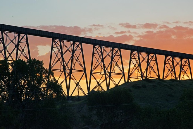Bridge Sunrise Lethbridge, Alberta Canada