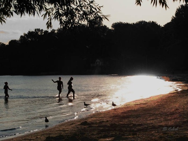 Dancing in the beautiful waters of Port Dover Toronto, Ontario Canada