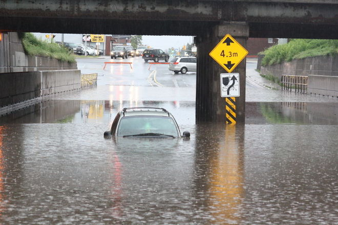 Flooding in Sault Ste Marie Sault Ste. Marie, Ontario Canada