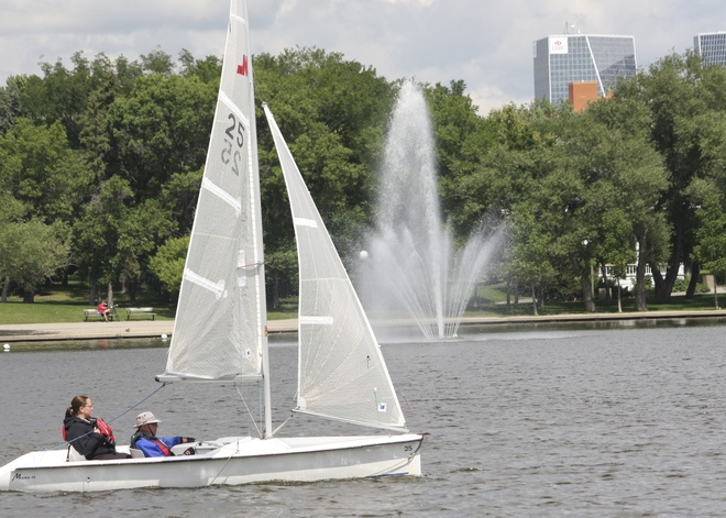 Sails on Wascana Regina, Saskatchewan Canada