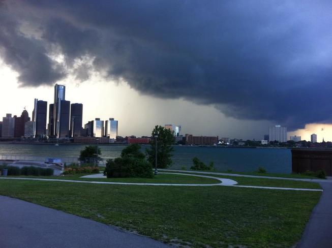 Quick Lightning Storm Detroit, Michigan United States