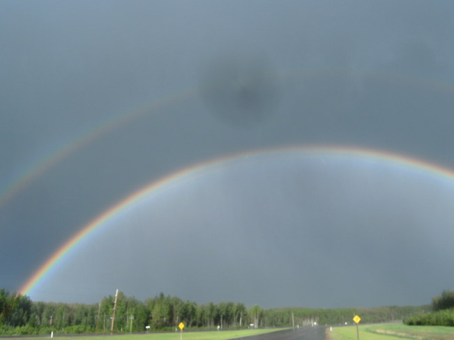 Double Rainbow Valleyview, Alberta Canada