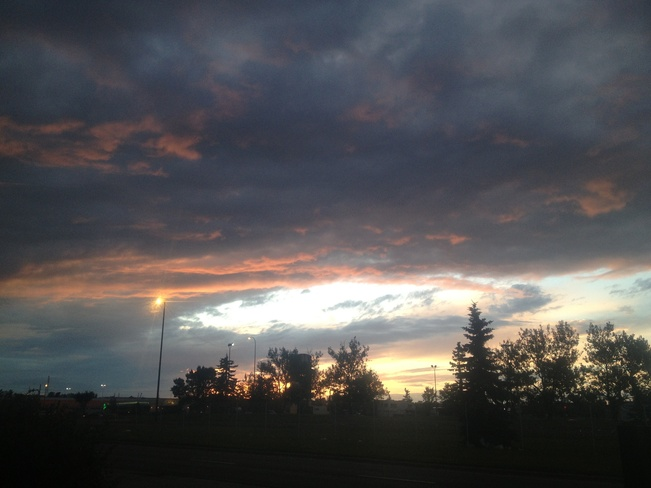 Beautiful Sunset Calgary, Alberta Canada