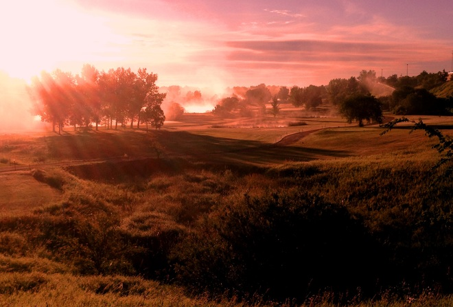 Hillcrest Golf Course at sunrise Moose Jaw, Saskatchewan Canada
