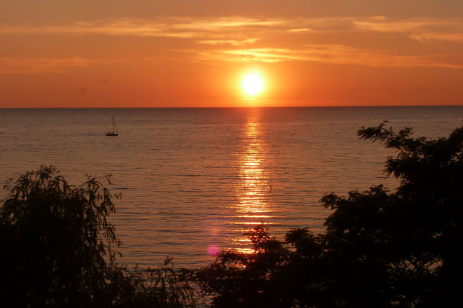 sunset at Bayfield