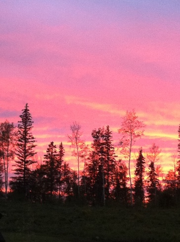 orange sky/sunset Fort McMurray, Alberta Canada