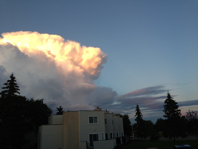 Face in the clouds Edmonton, Alberta Canada