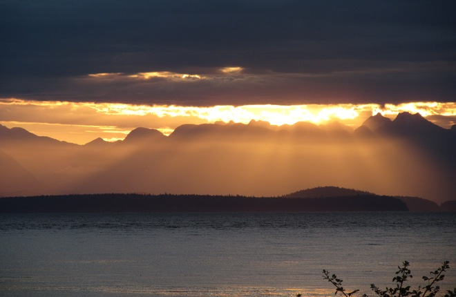 God's Rays Shining Down! Campbell River, British Columbia Canada
