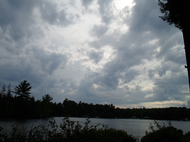 Storm Clouds moving in over Elliot Lake Elliot Lake, Ontario Canada