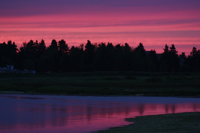 sunset over the maritime skies Tracadie-Sheila, New Brunswick Canada
