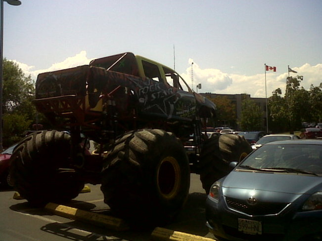 Monster truck to beat floods. Courtenay, British Columbia Canada