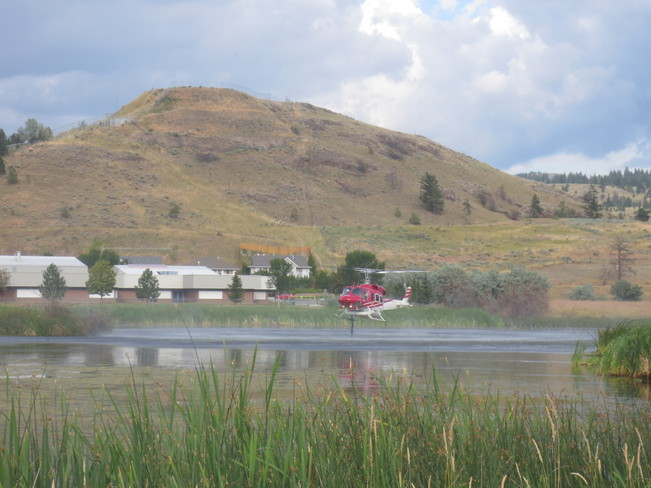 Water Bomber Helicopter Kamloops, British Columbia Canada
