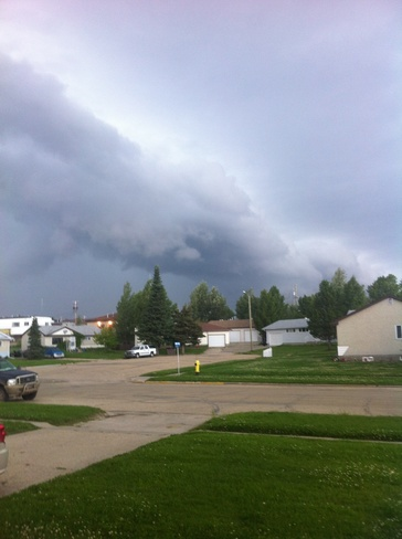 Storm moving in. Swan Hills, Alberta Canada
