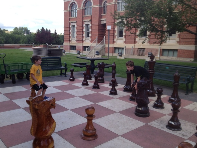 Giant Outdoor Chess! Medicine Hat, Alberta Canada