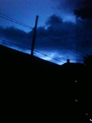 distant lightening Cornwall, Ontario Canada