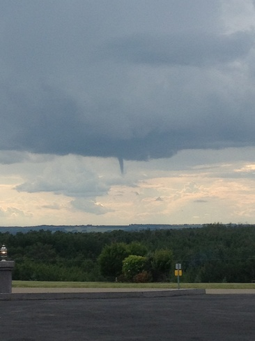 funnel cloud Sylvan Lake, Alberta Canada