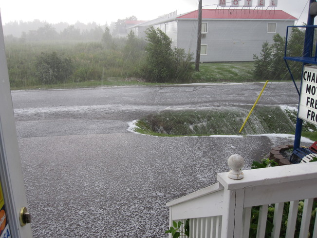 Hail AUGUST 5th, 2013 Shediac, New Brunswick Canada