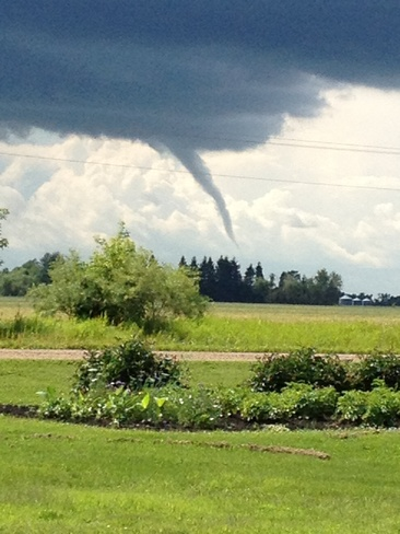 funnel cloud Birch River, Manitoba Canada