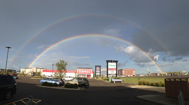 Olds Double Rainbow Olds, Alberta Canada