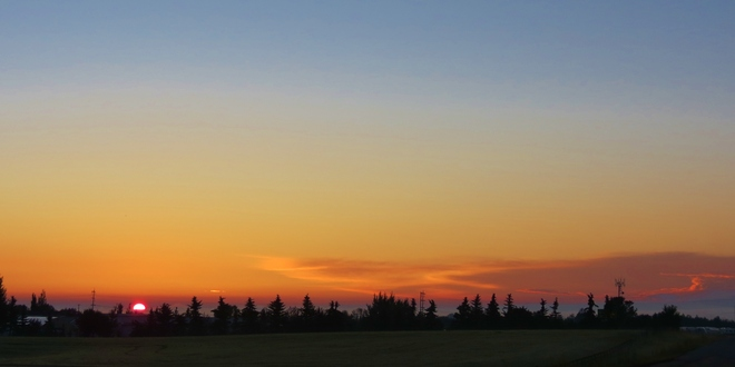 Tuesday sunrise Sherwood Park, Alberta Canada