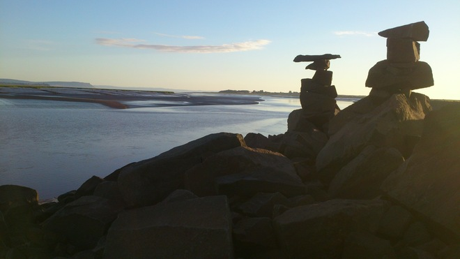 Between a Rock and a Great Place on the dykes in Wolfville Wolfville, Nova Scotia Canada