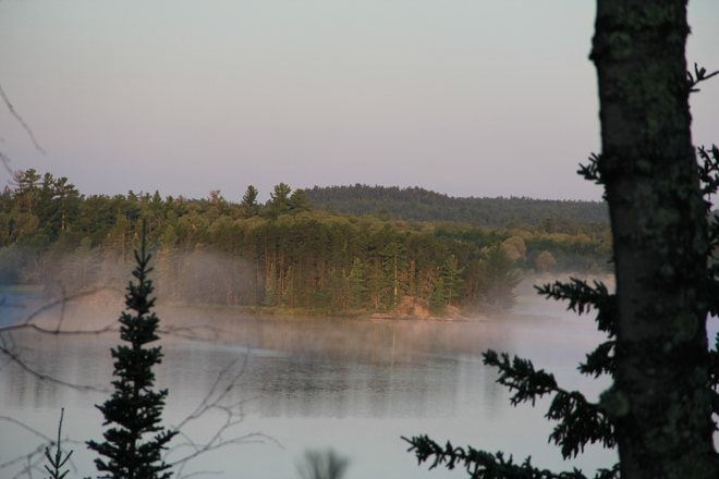 Cool morning Bear Pass, Ontario Canada