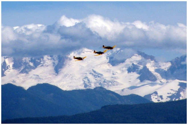 Harvards over Mt. Baker Abbotsford, British Columbia Canada