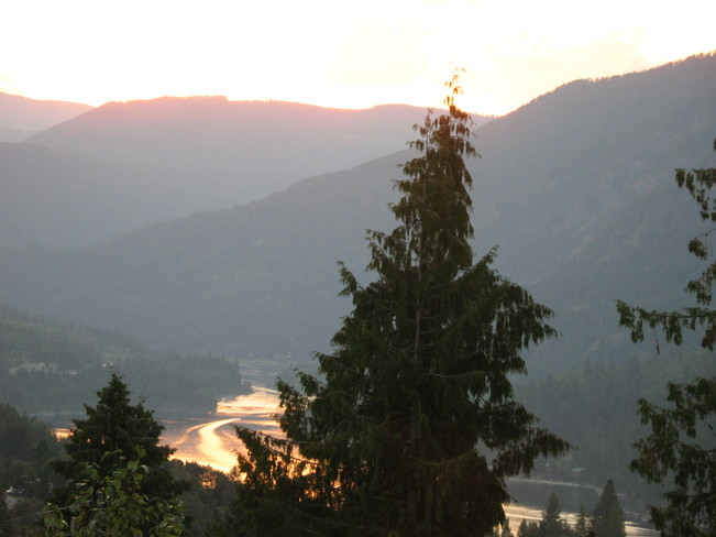 Sunset Over Nelson, BC Nelson, British Columbia Canada