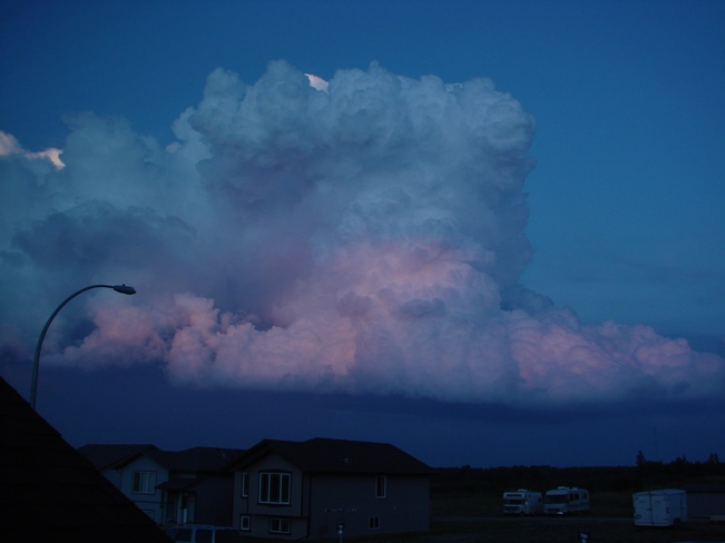 Storm cloud at sunset Rocky Mountain House, Alberta Canada