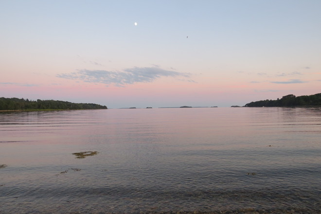 Rosy Evening, Teensy Moon Chester, Nova Scotia Canada