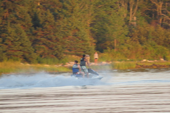 Evening Jet Skiing Chester, Nova Scotia Canada