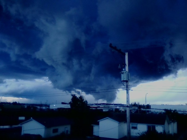 crazy clouds Fort St. John, British Columbia Canada