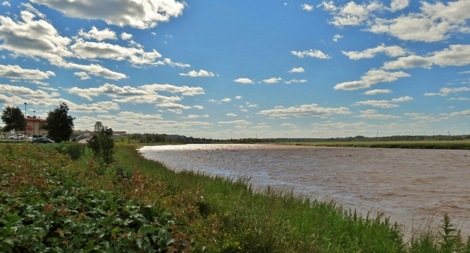 The River at High Tide Moncton, New Brunswick Canada