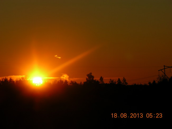 Sun;s Up Salisbury, New Brunswick Canada